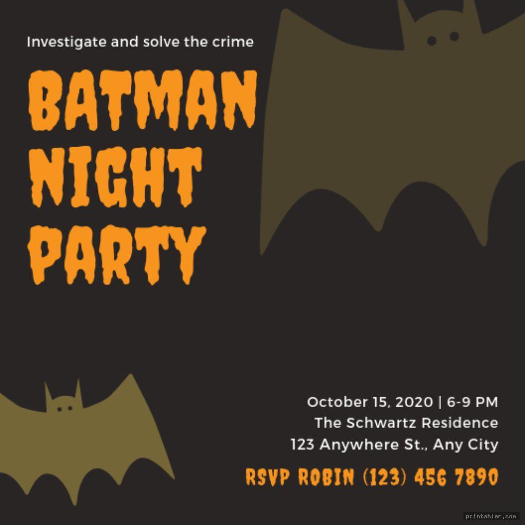 Batman Invitations Printable