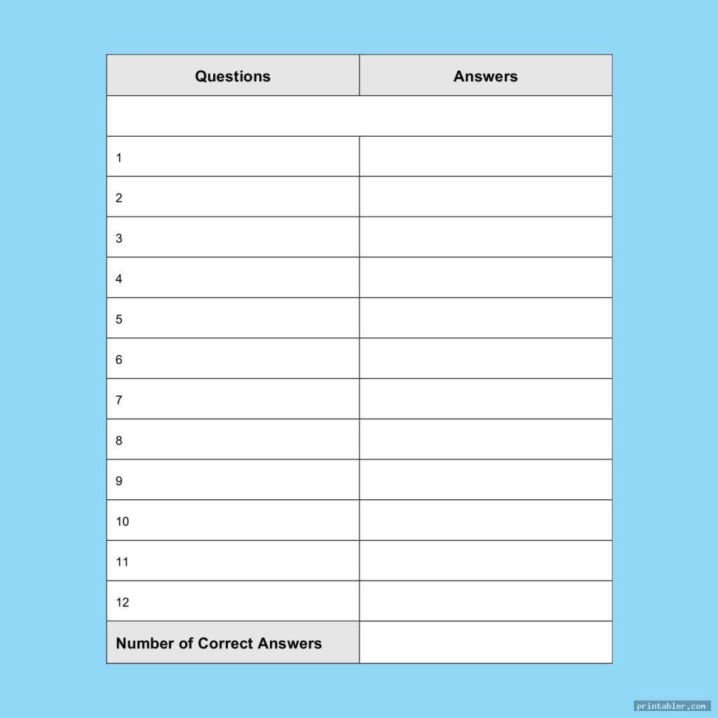 scattergories answer sheets printable image free