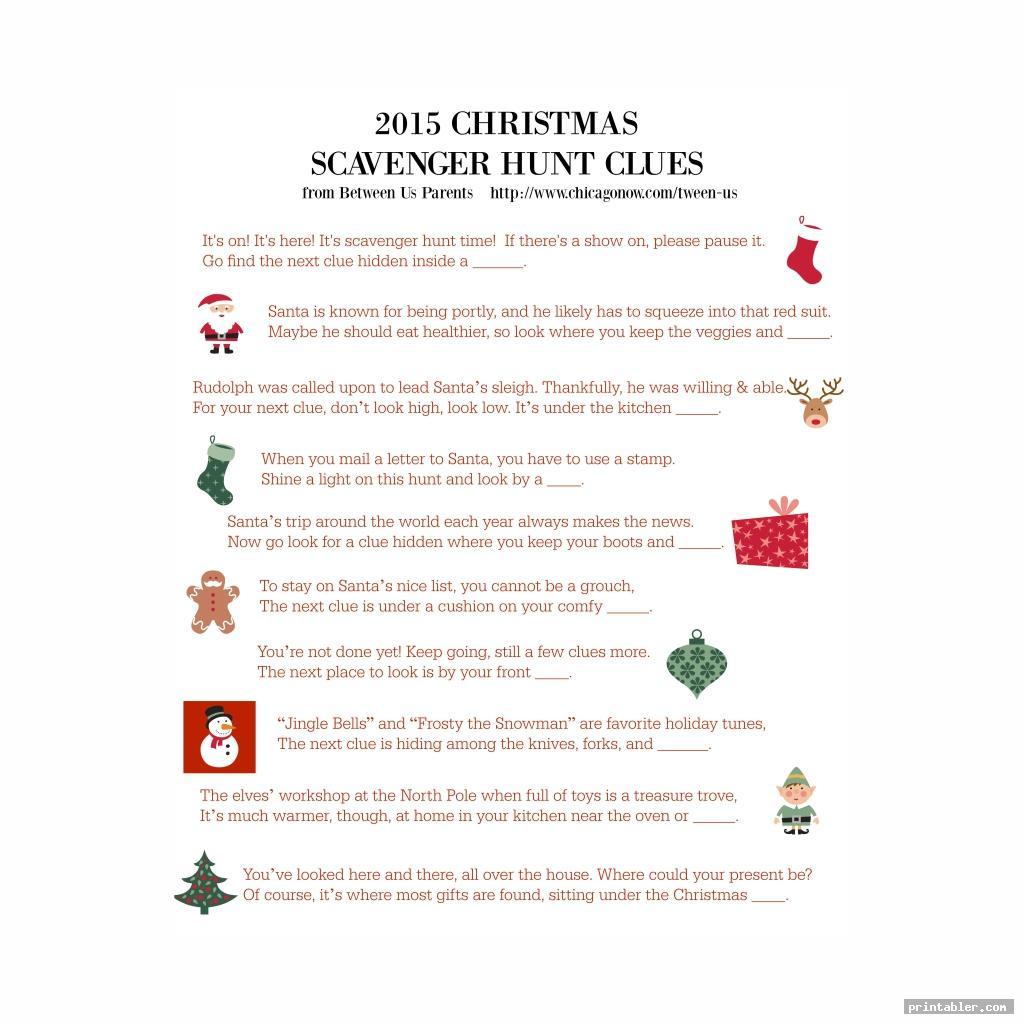 secret santa riddles printable image free