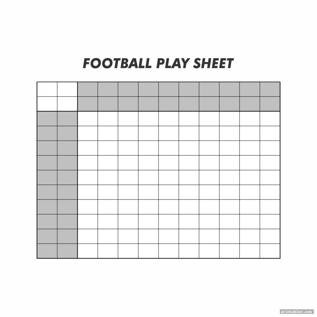 simple blank football play sheet printable