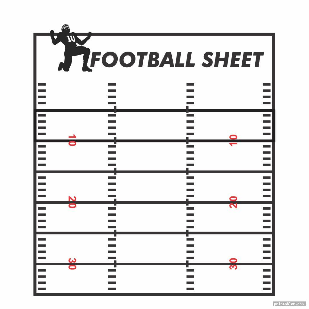 Blank Football Playbook Sheets Designs & Printable