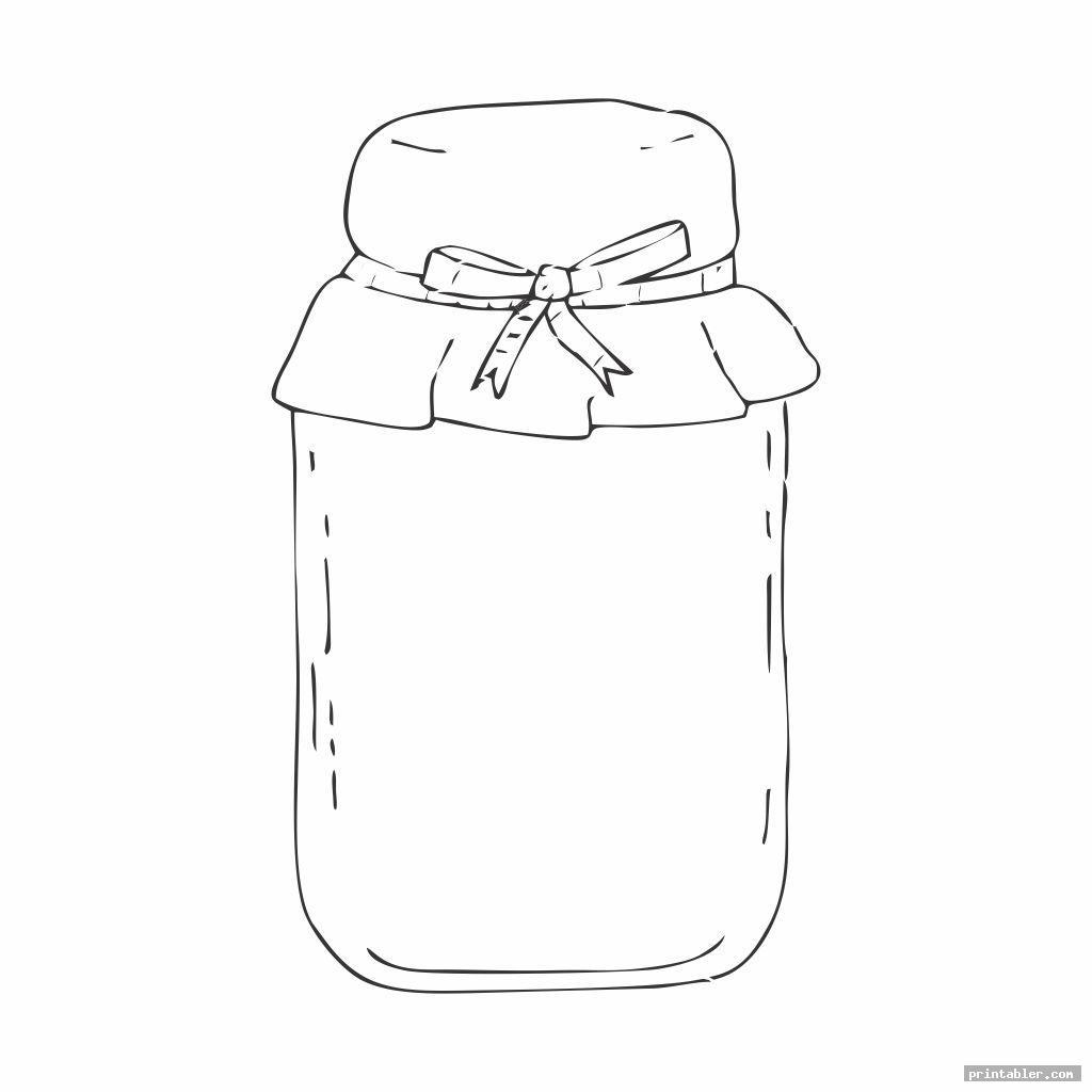 simple bug jar coloring page printable