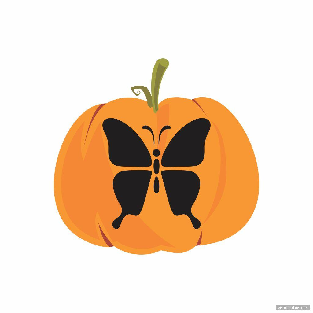 simple butterfly pumpkin template printable