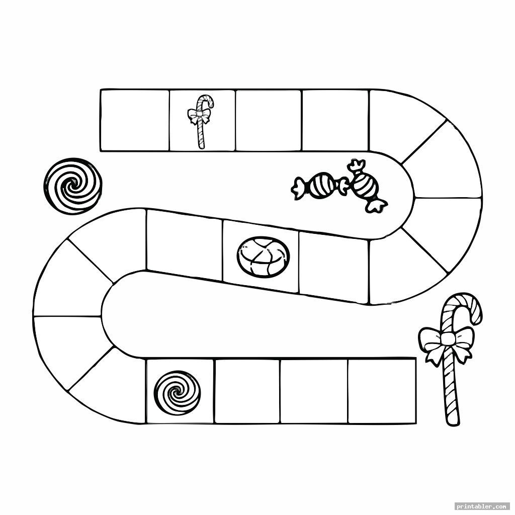 simple candyland board template printable