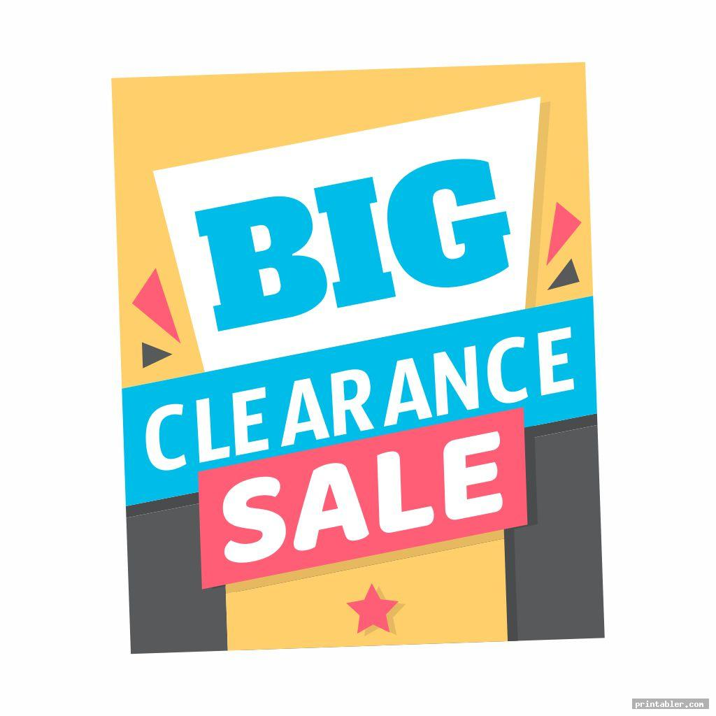 simple clearance sale signs printable