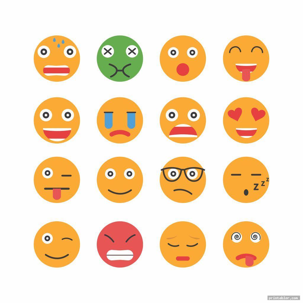 simple feelings chart printable image free