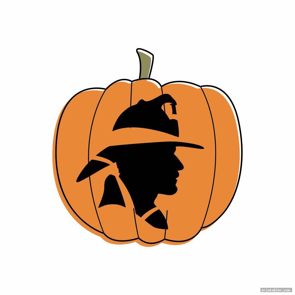 simple fireman pumpkin stencil printable