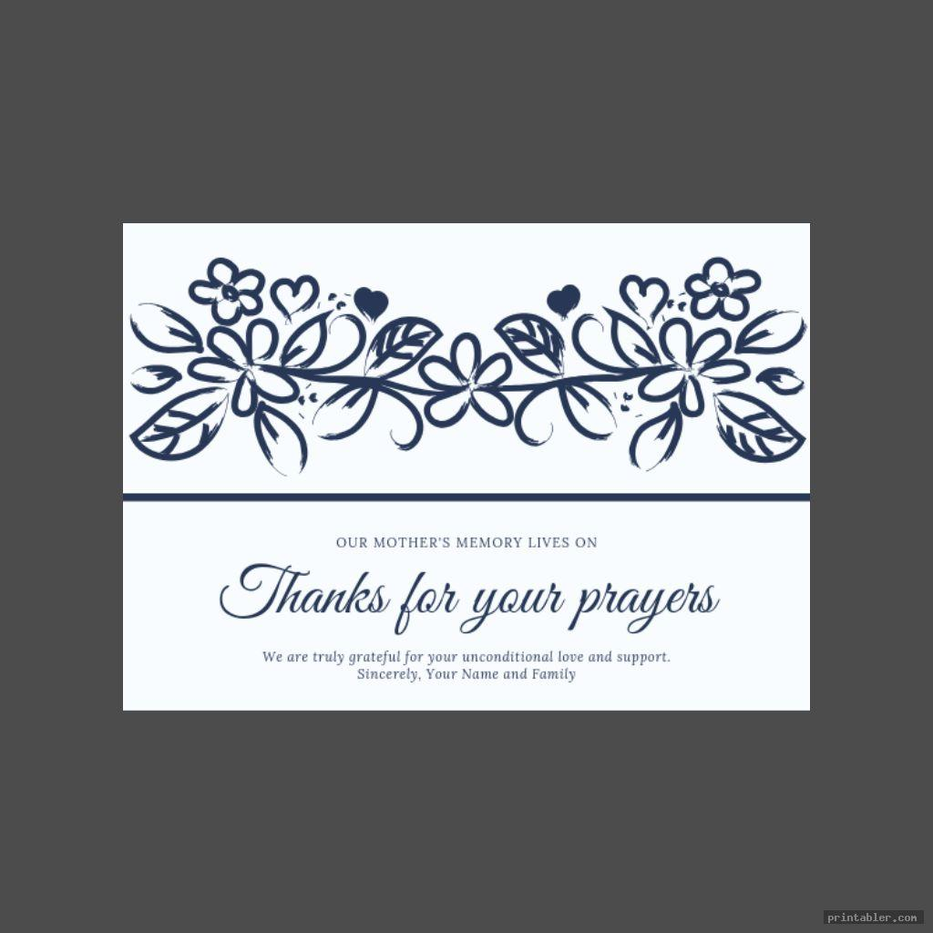 simple funeral cards printable