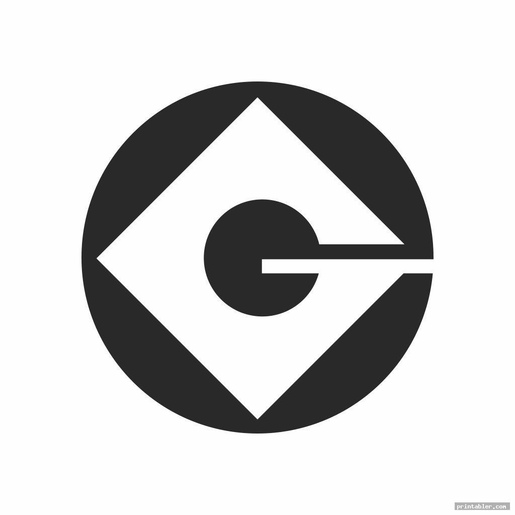 simple g minion logo printable