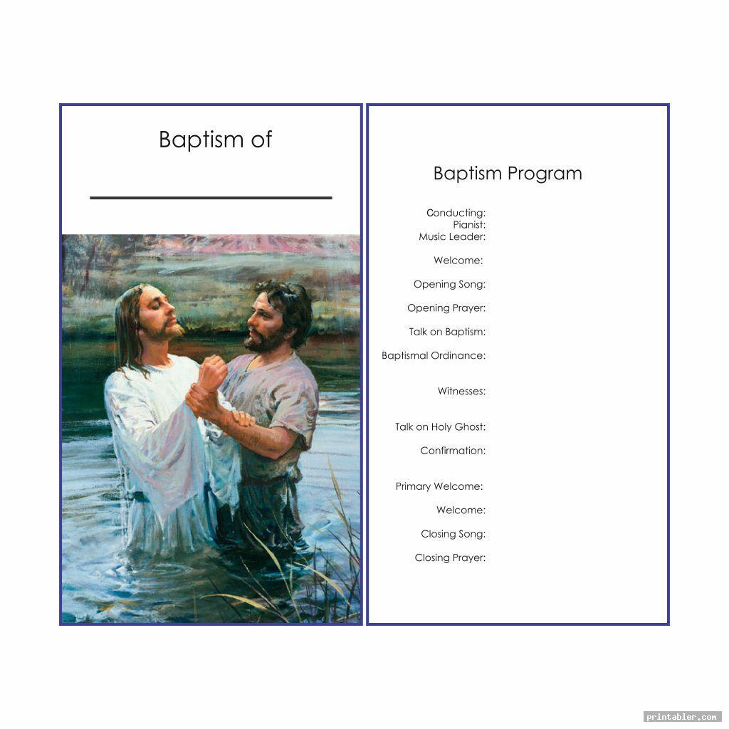 simple lds baptism program template printable