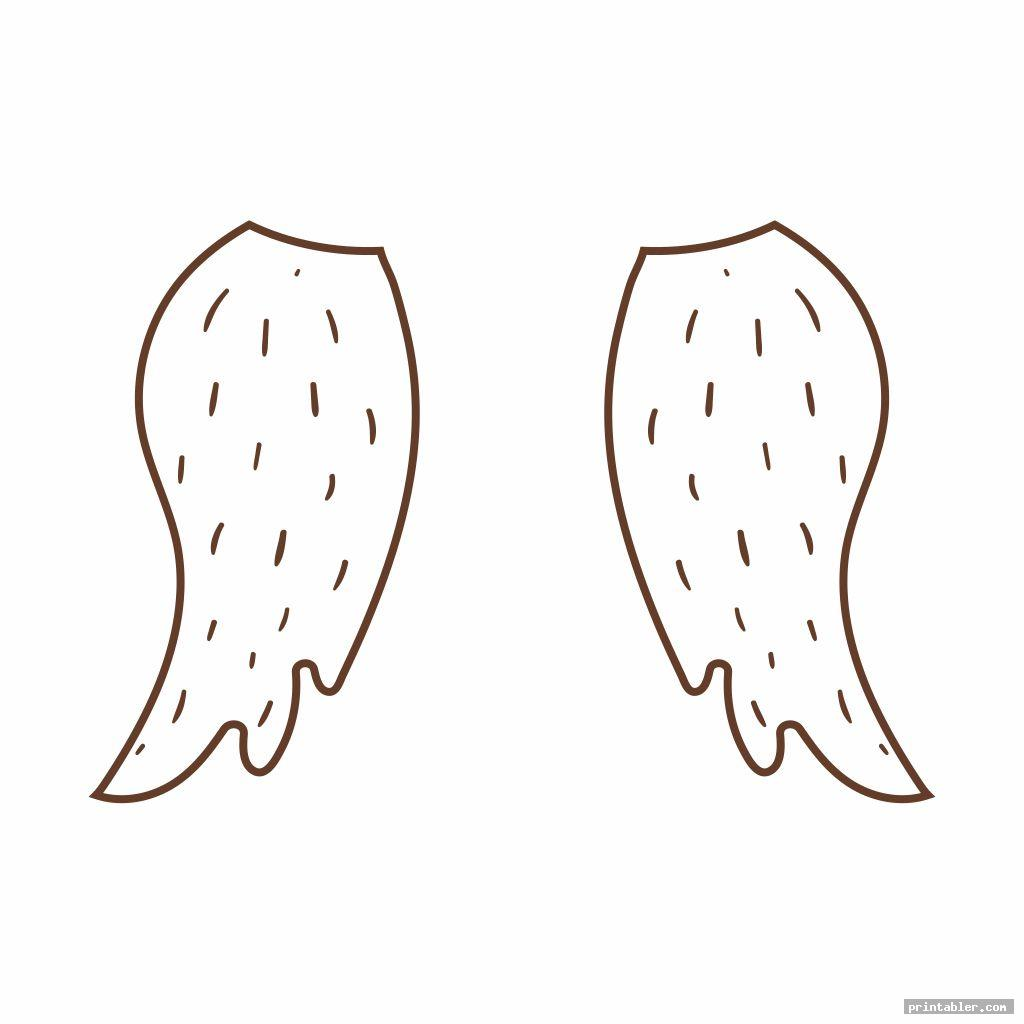 simple owl feather template printable