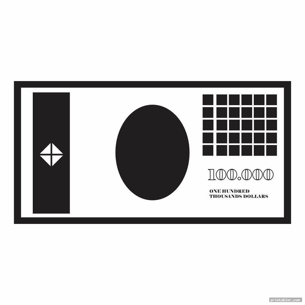 simple play money black and white printable