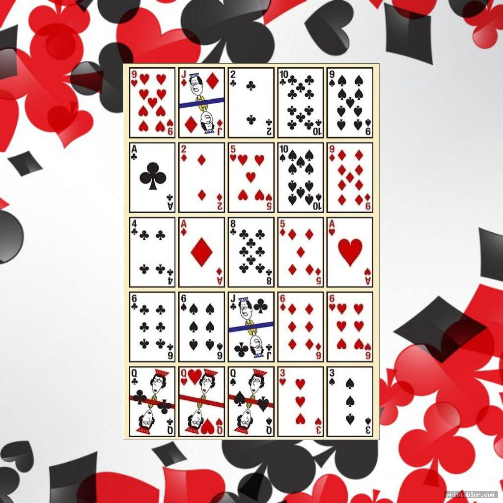 simple pokeno game cards printable