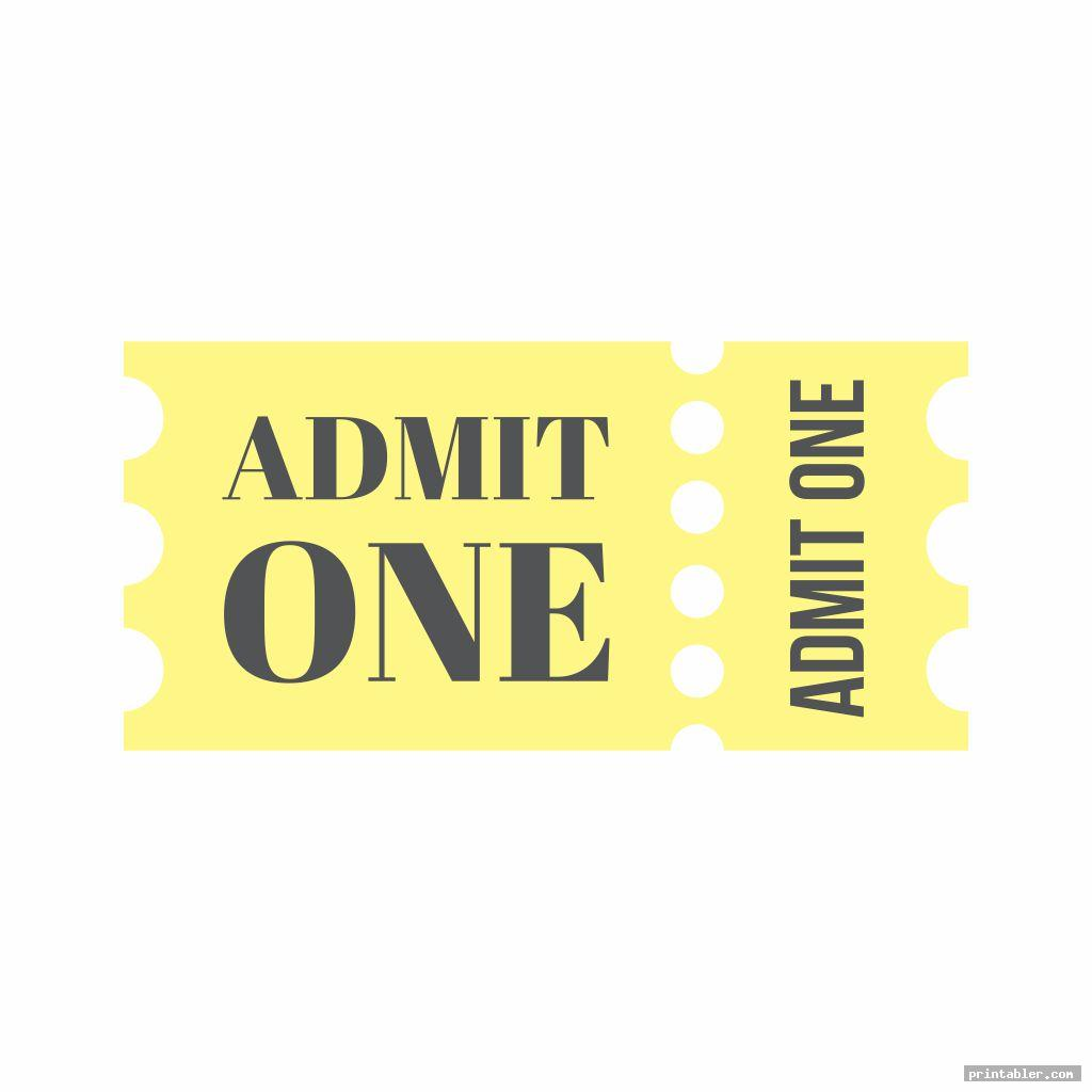 simple printable admit one template