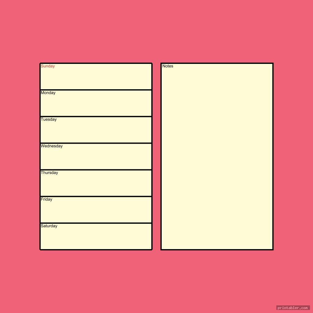 simple printable filofax personal templates