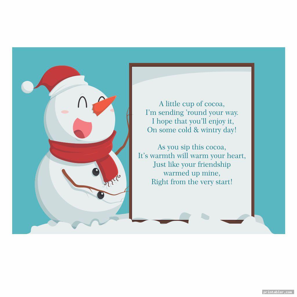 simple snowman soup template printable
