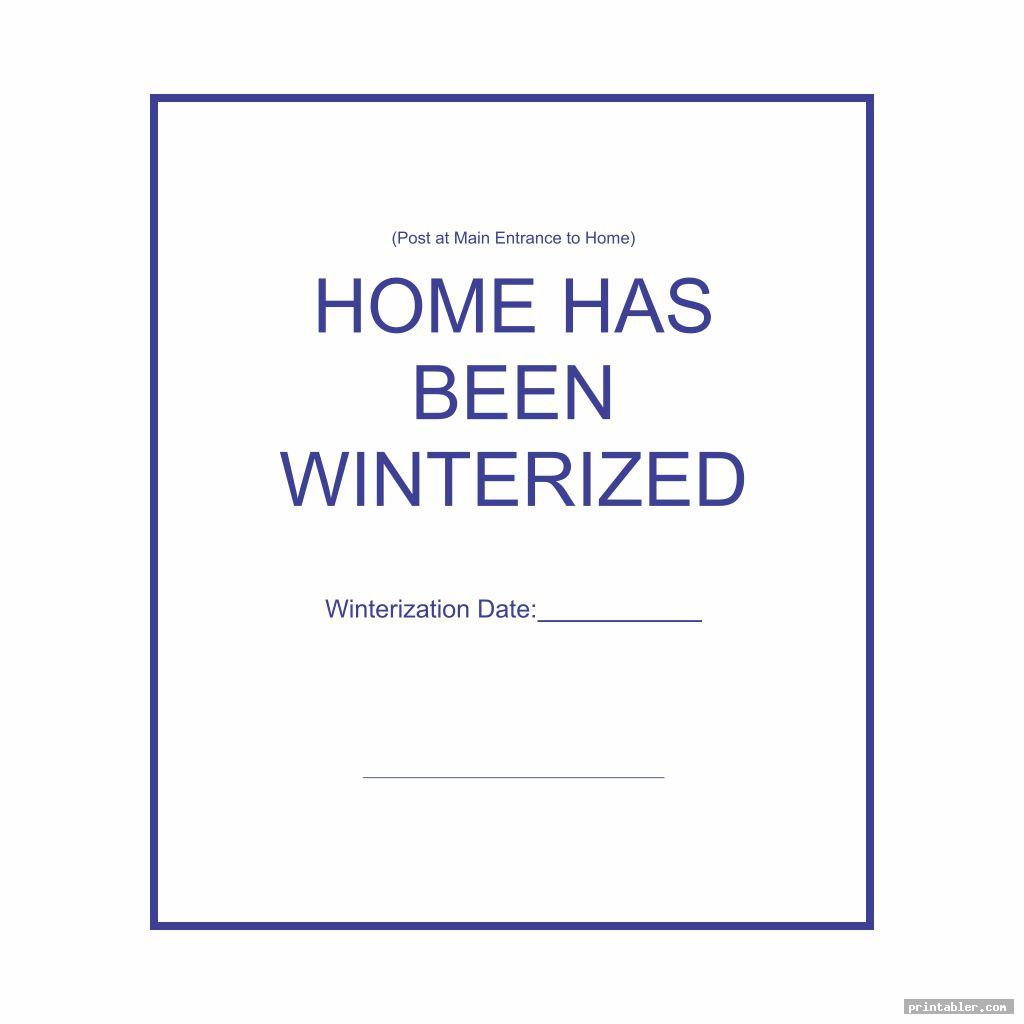 simple winterization signs printable