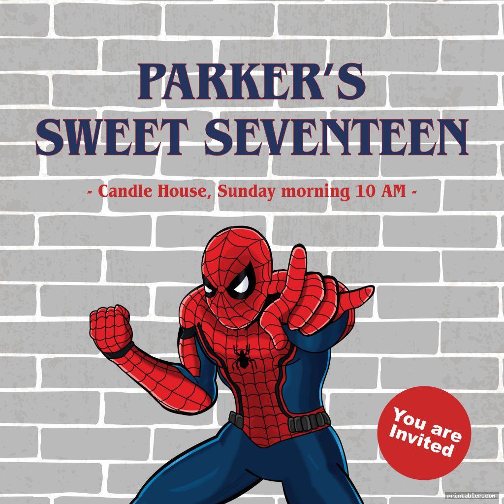 spiderman birthday invitations printable for teen