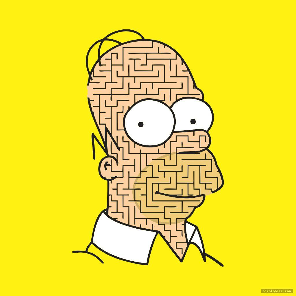 the simpsons hardest maze ever printable