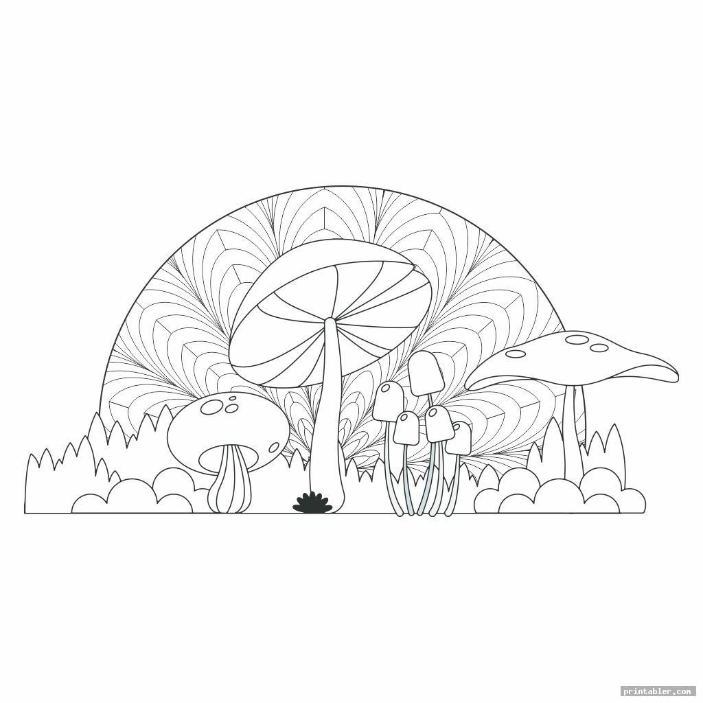 trippy mushroom coloring pages printable image free