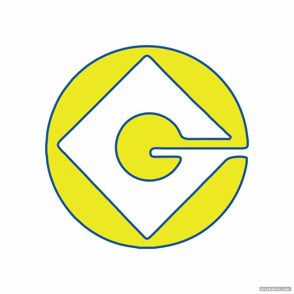 two tone g minion logo printable