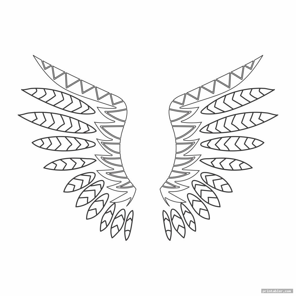 unique owl feather template printable