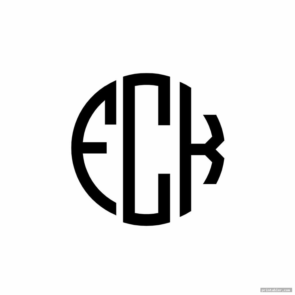 unique printable monogram stencils