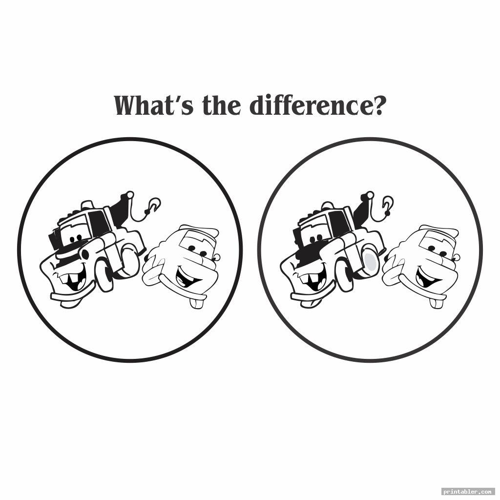 unique spot the difference adults printable