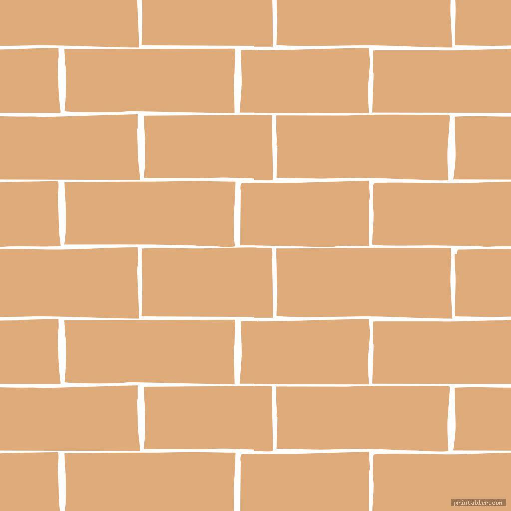 vector printable brick template