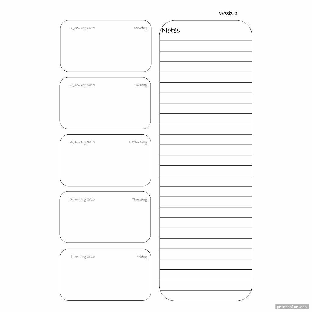 weekly filofax personal template printable