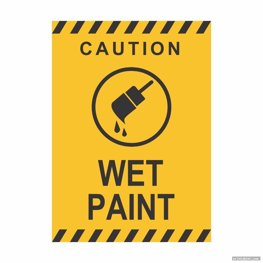 graphic regarding Printable Wet Paint Sign known as Damp Paint Indication Printable -