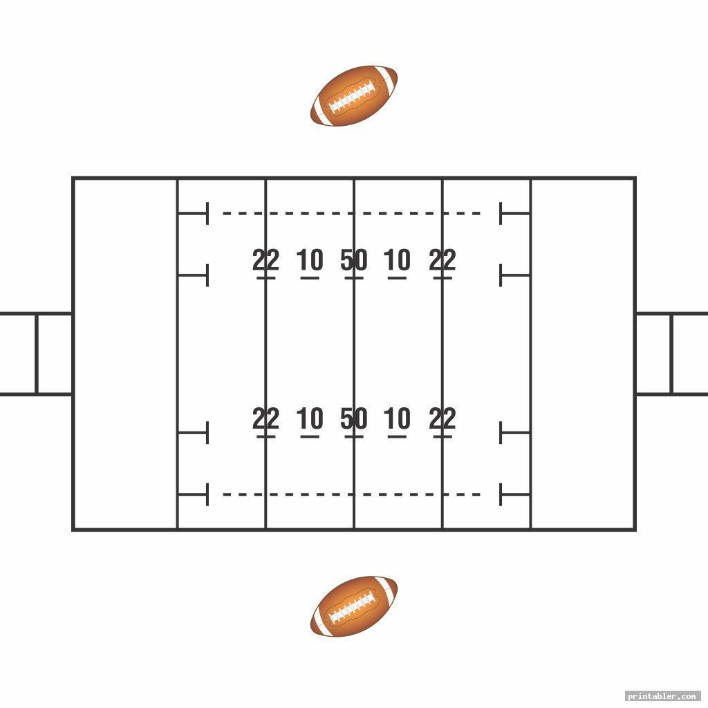 white blank football play sheets printable