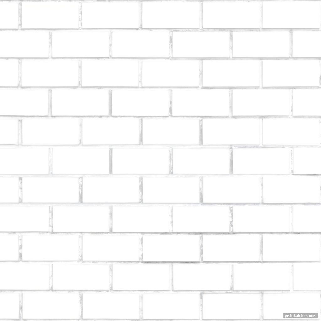 white brick template printable free use