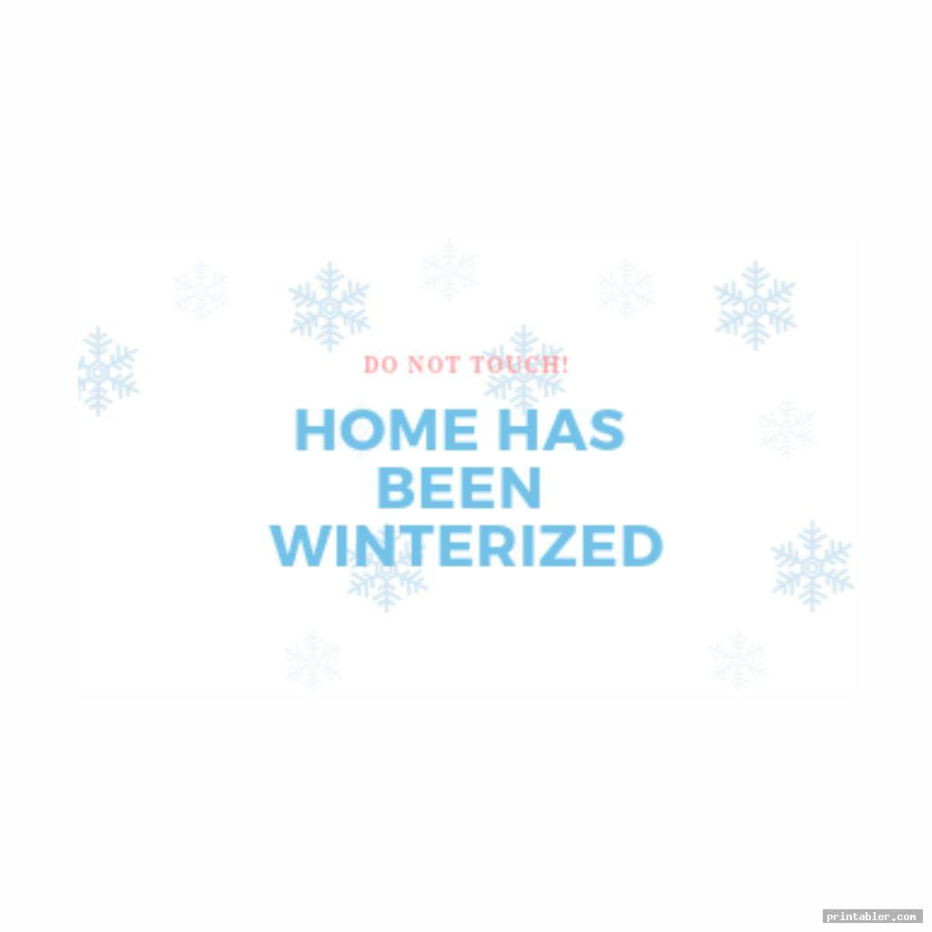 winter themed printable winterization signs