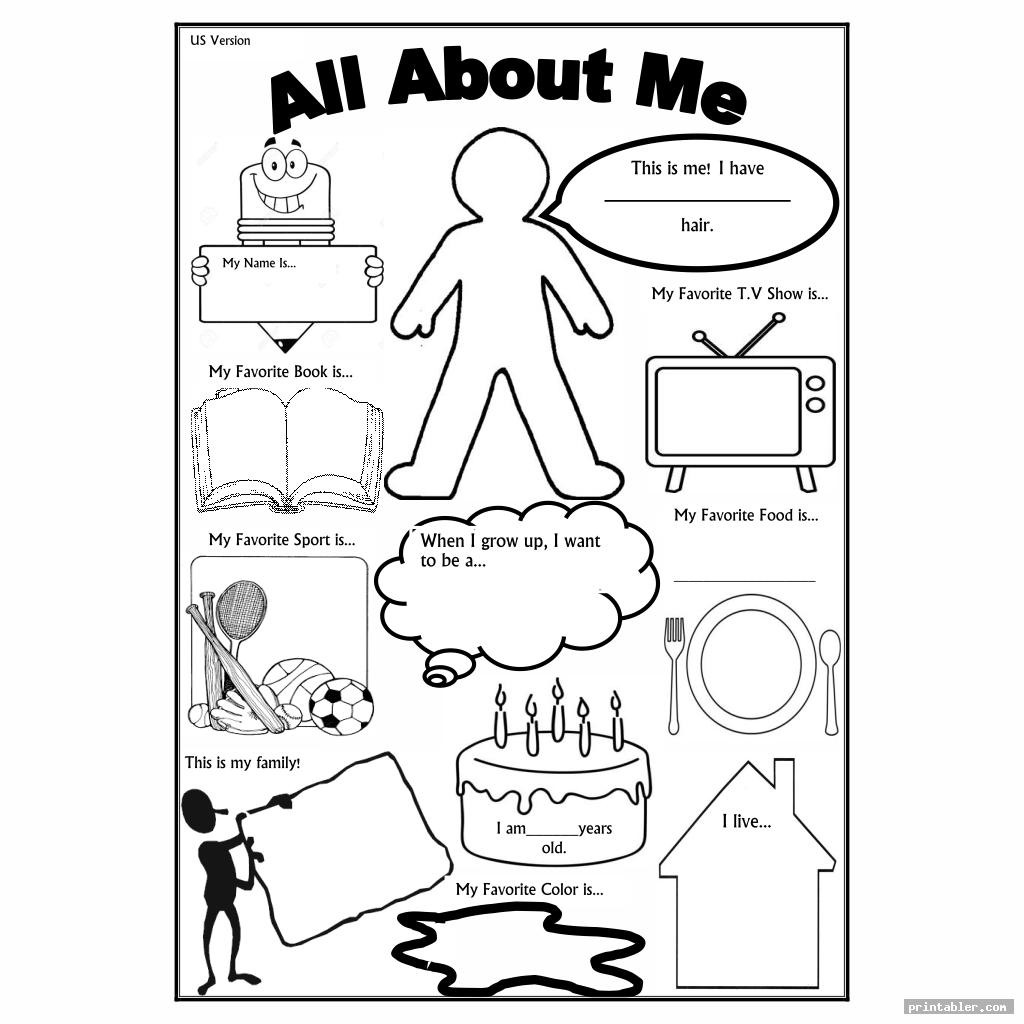 all about me printable template for use