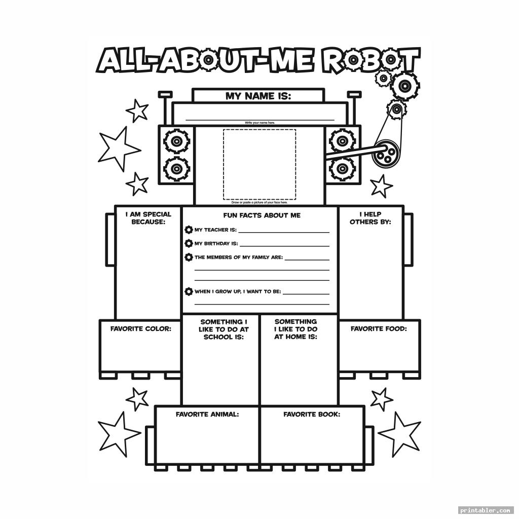 all about me printable template image free
