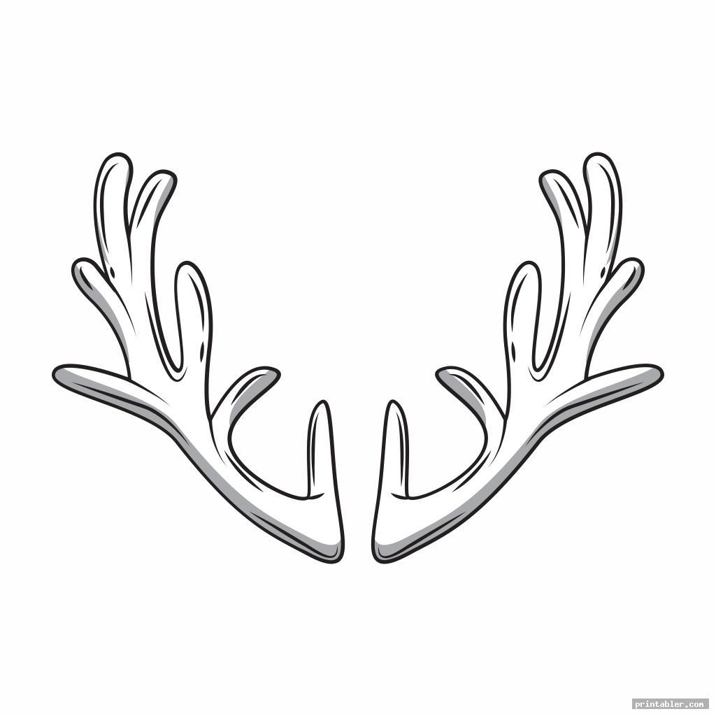 antler pattern printable image free