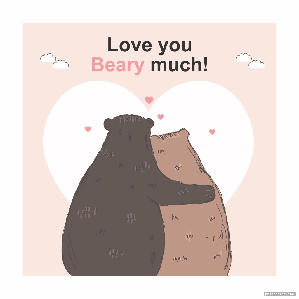 beary funny valentine cards for friends