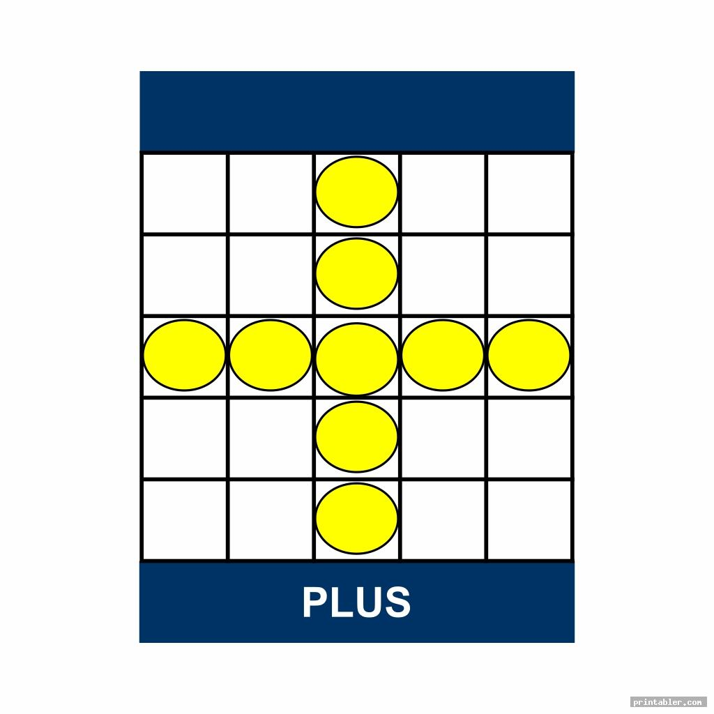 bingo game patterns printable template