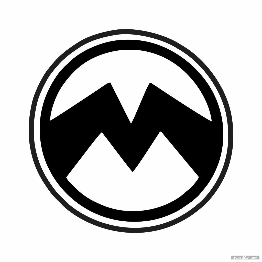 black minion symbol stencil printable