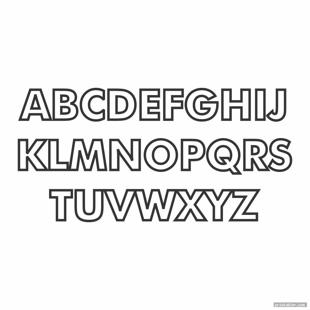 block letter font alphabet template image free