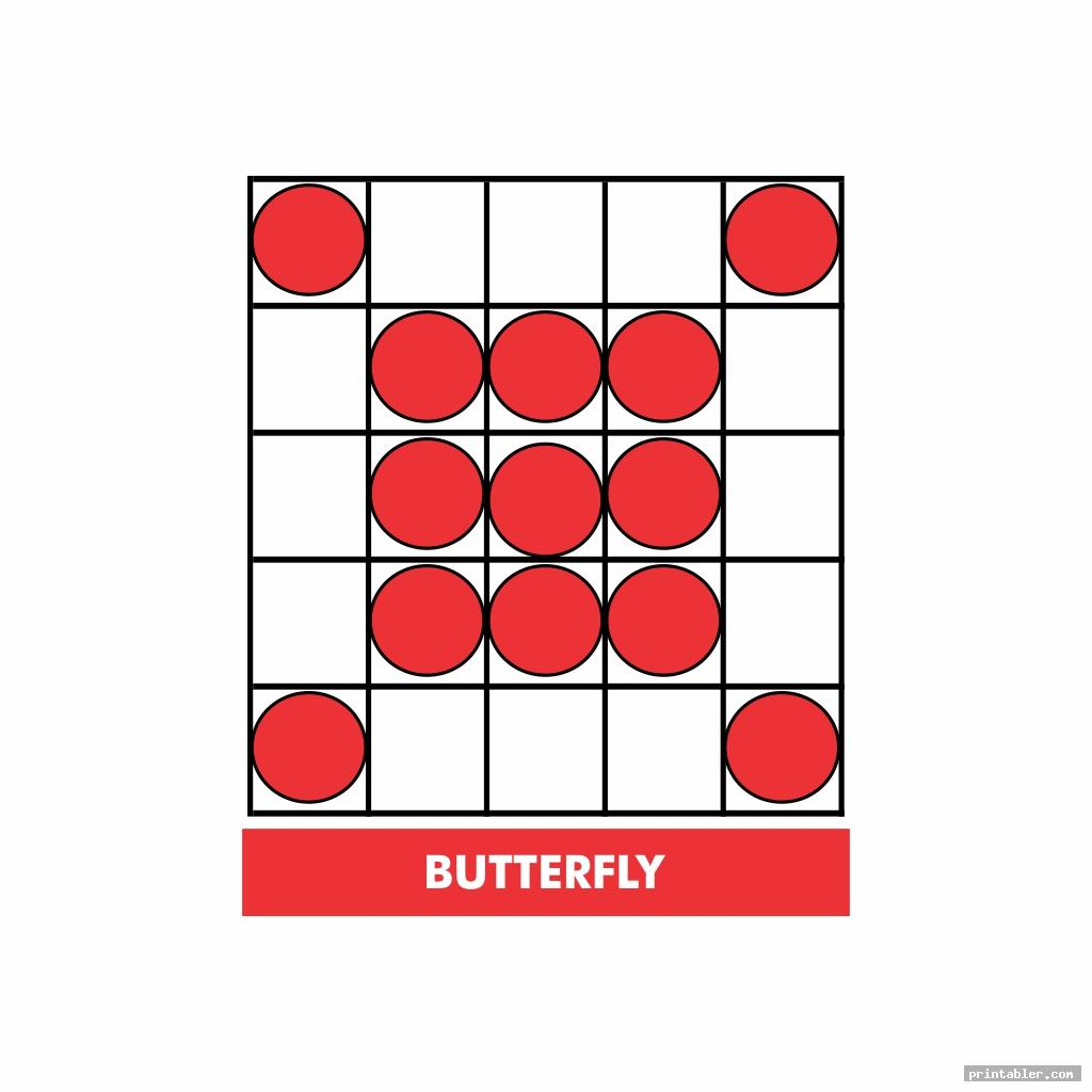 butterfly bingo patterns printable