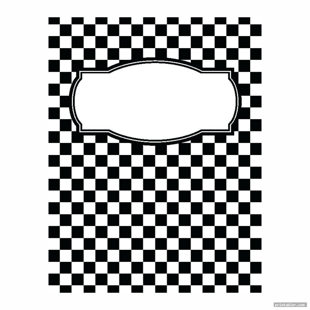 checker math binder cover templates printable