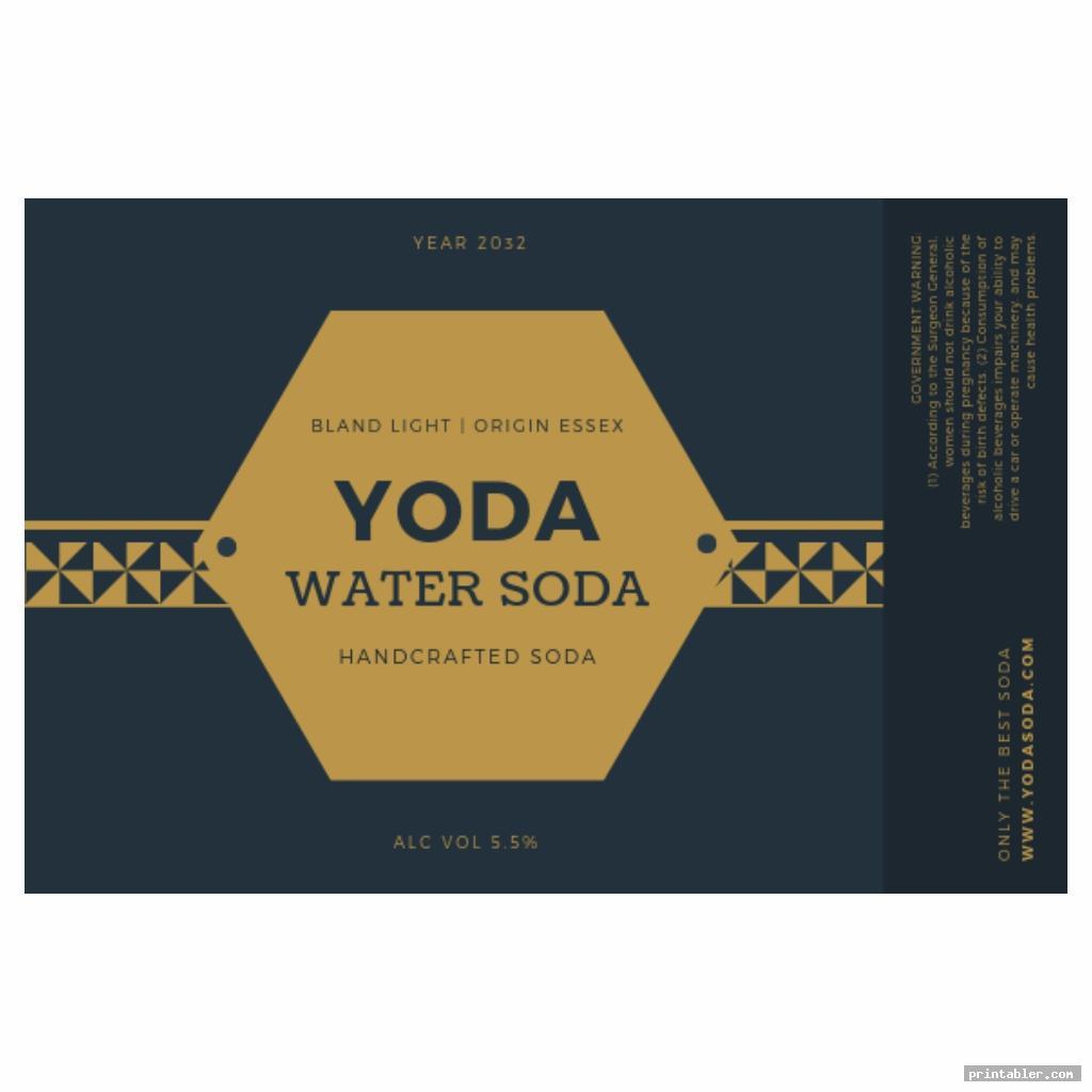 Yoda Soda Label Printable
