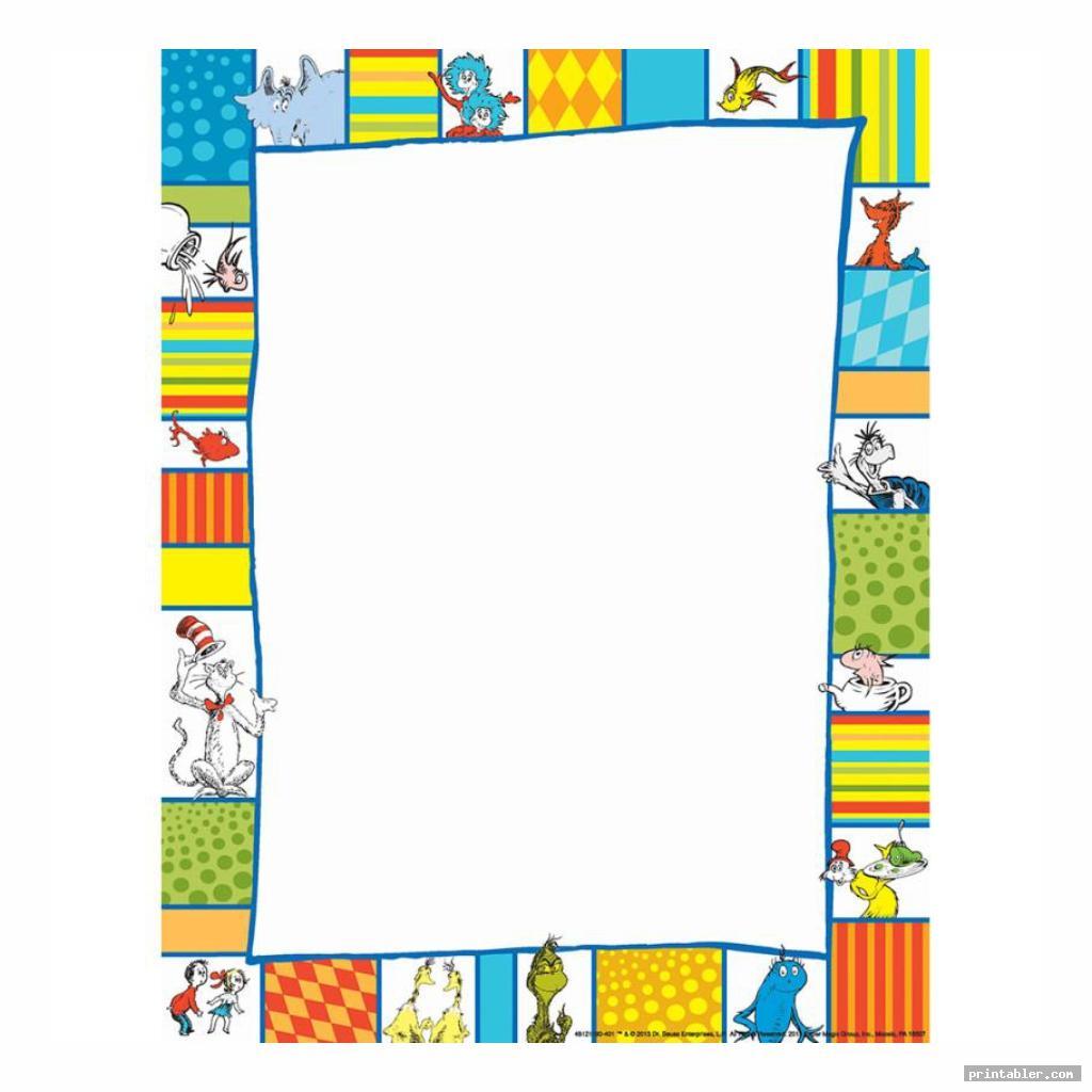colorful dr seuss printable border