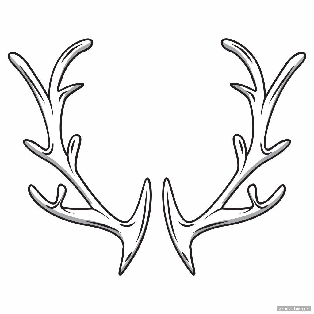 cool antler pattern printable