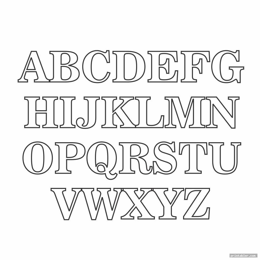 cool block letter font alphabet template