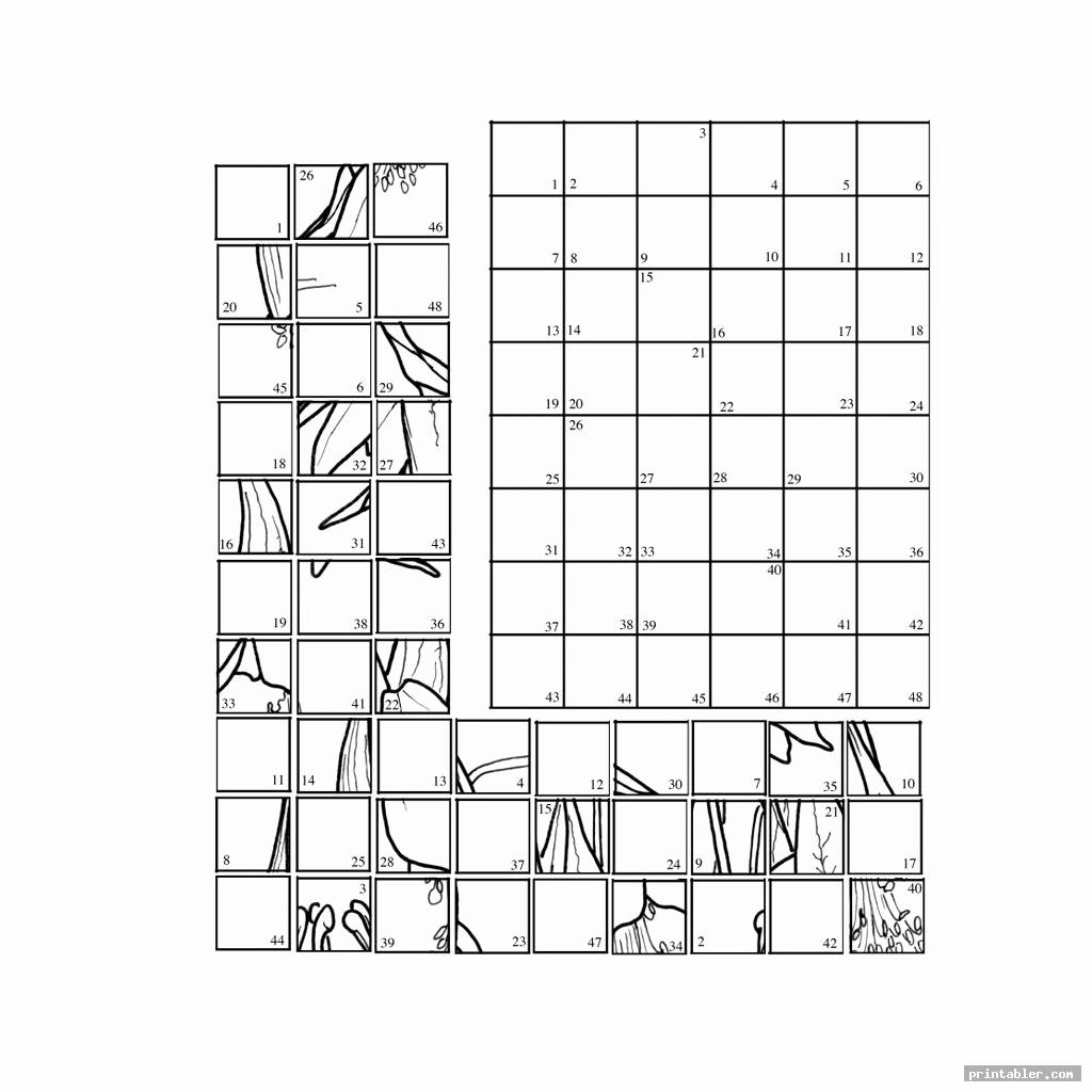 cool mystery grid drawing printable