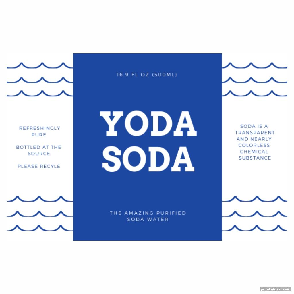 cool yoda soda label printable