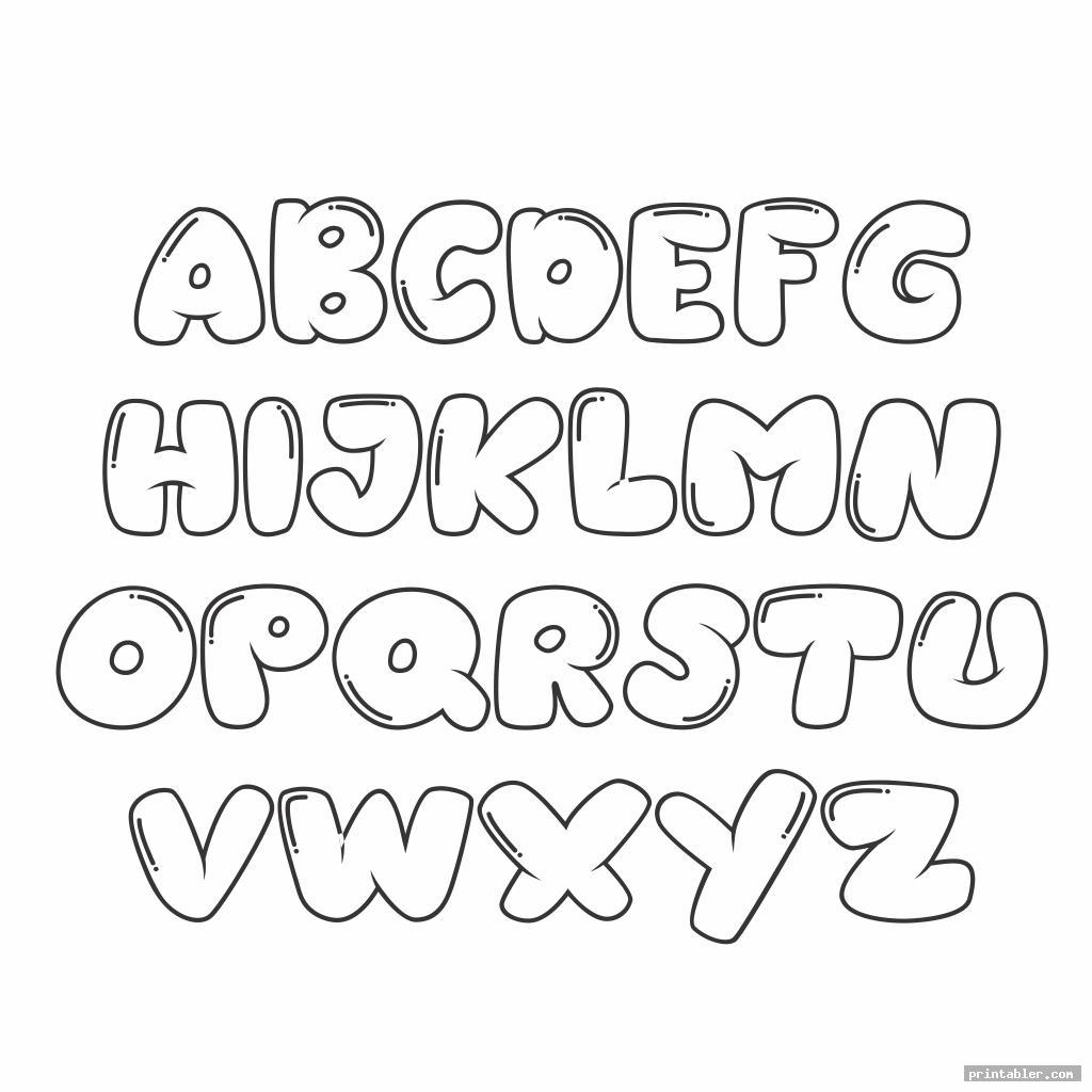 cute block letter font alphabet template